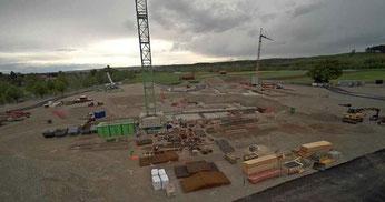 Webcam zeichnet Baufortschritt am Berufsschulneubau in Weilheim auf!