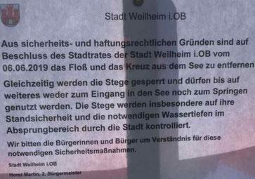 Stadtrat beschließt wg. BGH-Urteil massive Einschränkungen am Dietlhofer See